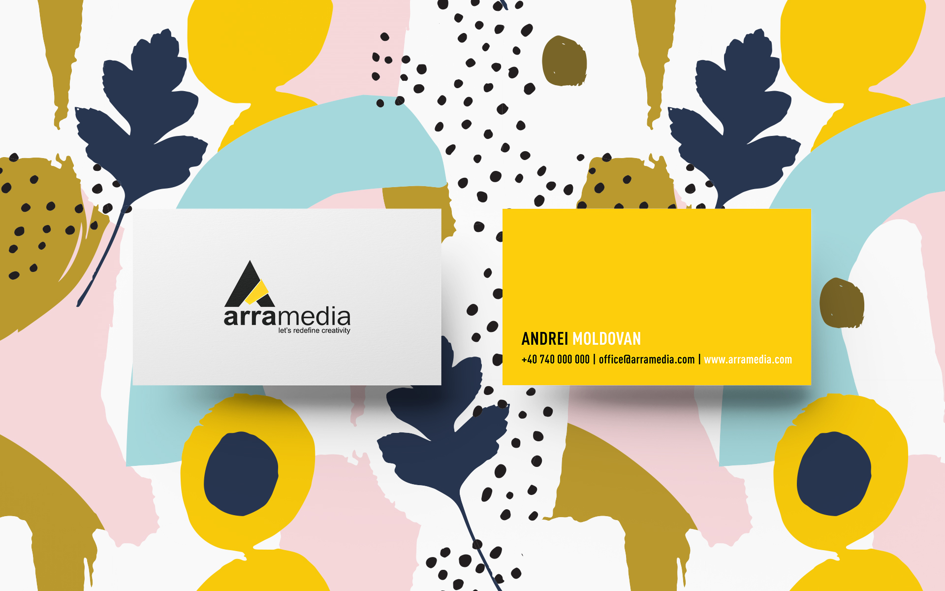 Business Card top View Mockup by Anthony Boyd Graphics
